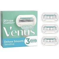 'Venus Deluxe Smooth Sensitive Razor Blades, 3 Pack