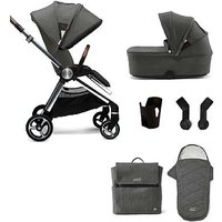 Mamas & Papas Strada 6 pc Starter Bundle - Grey Mist (pushchair, carrycot, cup holder & adaptor, bag and footmuff)