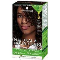 Schwarzkopf Natural and Nourishing Dark Red Brown Hair Dye 585 Permanent Vegan