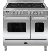 BRITANNIA Delphi 90 Twin Electric Induction Range Cooker - Stainless Steel, Stainless Steel