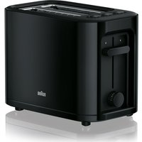 Buy BRAUN Series 3 PurEase HT3000.BK 2-Slice Toaster - Black, Braun - Currys