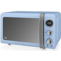 SWAN SM22030BLN Solo Microwave - Blue, Blue