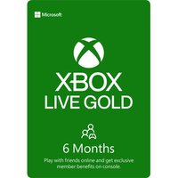 MICROSOFT Xbox Live Gold Membership 6 Month Subscription, Gold.