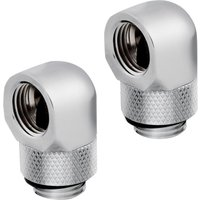 CORSAIR Hydro X Series XF 90  Rotary Fitting Adapter   G1 4   Chrome  Pack of 2