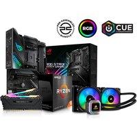 PC SPECIALIST AMD Ryzen 9 Processor, ROG STRIX Motherboard, 16 GB RAM & Corsair RGB Cooler Components Bundle