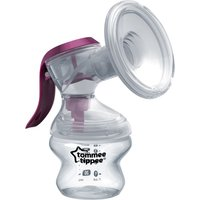 TOMMEE TIPPEE Made for Me Single Manual Breast Pump - White & Purple, White