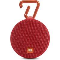 JBL Clip 2 Portable Wireless Speaker - Red, Red