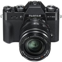 FUJIFILM X-T20 Compact System Camera with 18-55 mm f/2.8-f/4 Standard Zoom Lens - Black, Black