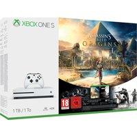 MICROSOFT Xbox One S with Assassins Creed Origins & Tom Clancys Rainbow Six Siege