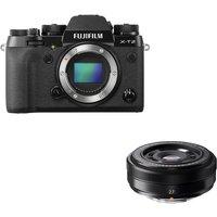 FUJIFILM X-T2 Mirrorless Camera & FUJINON XF 27 mm f/2.8 Pancake Lens Bundle