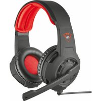TRUST GXT 310 Radius Gaming Headset - Black & Red, Black