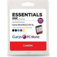 ESSENTIALS Canon 570XL & 571XL Cyan, Magenta, Yellow & Black x 2 Ink Cartridges - Multipack, Cyan