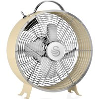 Retro SFA12630CN Portable 8  Desk Fan   Cream  Cream