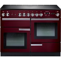 RANGEMASTER Professional 110 Electric Range Cooker - Cranberry and Chrome, Cranberry
