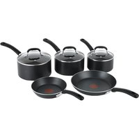 TEFAL E857S544 5-Piece Pan Set - Black, Black