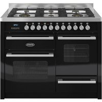 BRITANNIA Delphi 110 RC11XGGDEK Dual Fuel Range Cooker - Matte Black and Stainless Steel, Stainless Steel