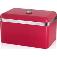 SWAN Retro Bread Bin - Red, Red