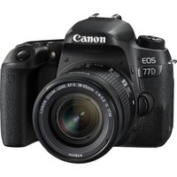 CANON EOS 77D DSLR Camera with 18-55 mm f/4-5.6 IS STM Zoom Lens - Black, Black