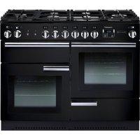 Rangemaster PROP110NGFGB/C Gas Range Cooker - Black, Black