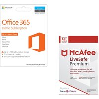 MICROSOFT Office 365 Home & LiveSafe Premium Bundle