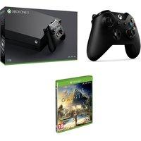 MICROSOFT Xbox One X, Game & Accessory Bundle, Gold