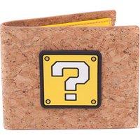 NINTENDO Super Mario Cork Bifold Wallet - Brown & Yellow, Brown