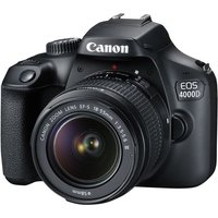 CANON EOS 4000D DSLR Camera with EF-S 18-55 mm f/3.5-5.6 DC III Lens