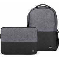 "GOJI G14SLBP20 12.9"" iPad Pro Backpack & 14"" Laptop Sleeve Bundle - Black & Grey, Black"