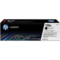 HP 128A Black Toner Cartridge, Black