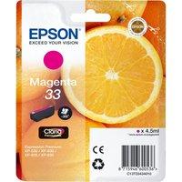 EPSON No. 33 Oranges Magenta Ink Cartridge, Magenta