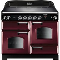 Rangemaster Classic 110 cm Electric Induction Range Cooker - Cranberry and Chrome, Cranberry