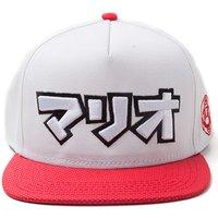 MARIO Japanese Super MARIO Snapback Cap - White & Red, White