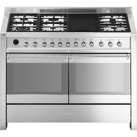 SMEG Opera 120 cm Dual Fuel Range Cooker - Stainless Steel, Stainless Steel