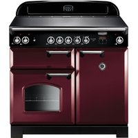 RANGEMASTER Classic CLA100ECCY/C Electric Range Cooker - Cranberry and Chrome, Cranberry