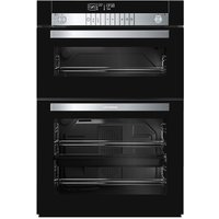 GRUNDIG GEDM47000B Electric Built-under Double Oven - Black, Black