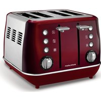 Buy MORPHY RICHARDS Evoke One 4-Slice Toaster - Red, Red - Currys