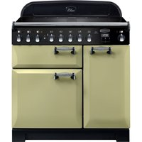 Rangemaster Elan Deluxe ELA90EIOG 90 cm Electric Induction Range Cooker - Olive and Chrome, Olive