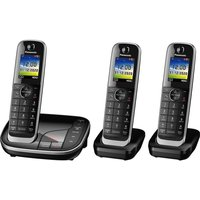 Click to view product details and reviews for Panasonic Kx Tgj423eb Cordless Phone Triple Handsets.
