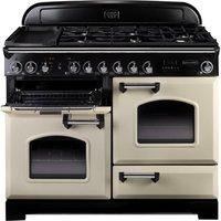 RANGEMASTER  Classic Deluxe 110 Dual Fuel Range Cooker - Cream & Chrome, Cream