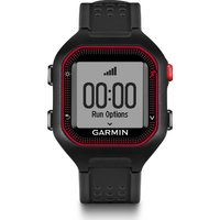 GARMIN Forerunner 25 GPS Running Watch - Black & Red, Black
