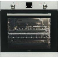 LOGIK LBLFANX17 Electric Oven - Inox & Black, Black