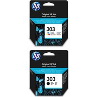 HP 303 Combo Tri-colour & Black Ink Cartridges, Black