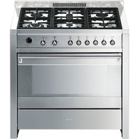 SMEG Opera 90 Dual Fuel Range Cooker - Stainless Steel, Stainless Steel