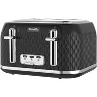 Buy BREVILLE Curve VTT786 4-Slice Toaster - Black, Black - Currys PC World