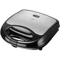 'Logik L02sms17 Sandwich Toaster -  Black & Silver