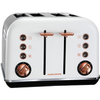 MORPHY RICHARDS Accents 242106 4-Slice Toaster - White & Rose Gold, White