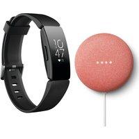 FITBIT Inspire HR Fitness Tracker & Nest Mini Bundle, Black