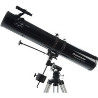 CELESTRON Powerseeker 114EQ Reflector Telescope - Black, Black