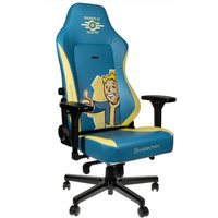 NOBLECHAIRS HERO Fallout Vault-Tec Edition Gaming Chair - Blue & Yellow, Blue