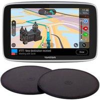 "TOMTOM GO Premium 5"" Worldwide Maps Sat Nav & Adhesive Dashboard Mount Disks Bundle"